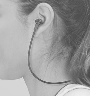 頸掛式耳機示意圖