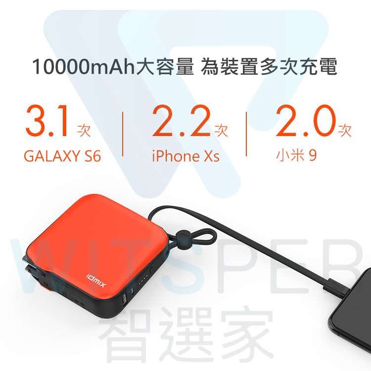 行動電源+變壓器+充電線+可攜式提掛 多功能旅充行動電源
