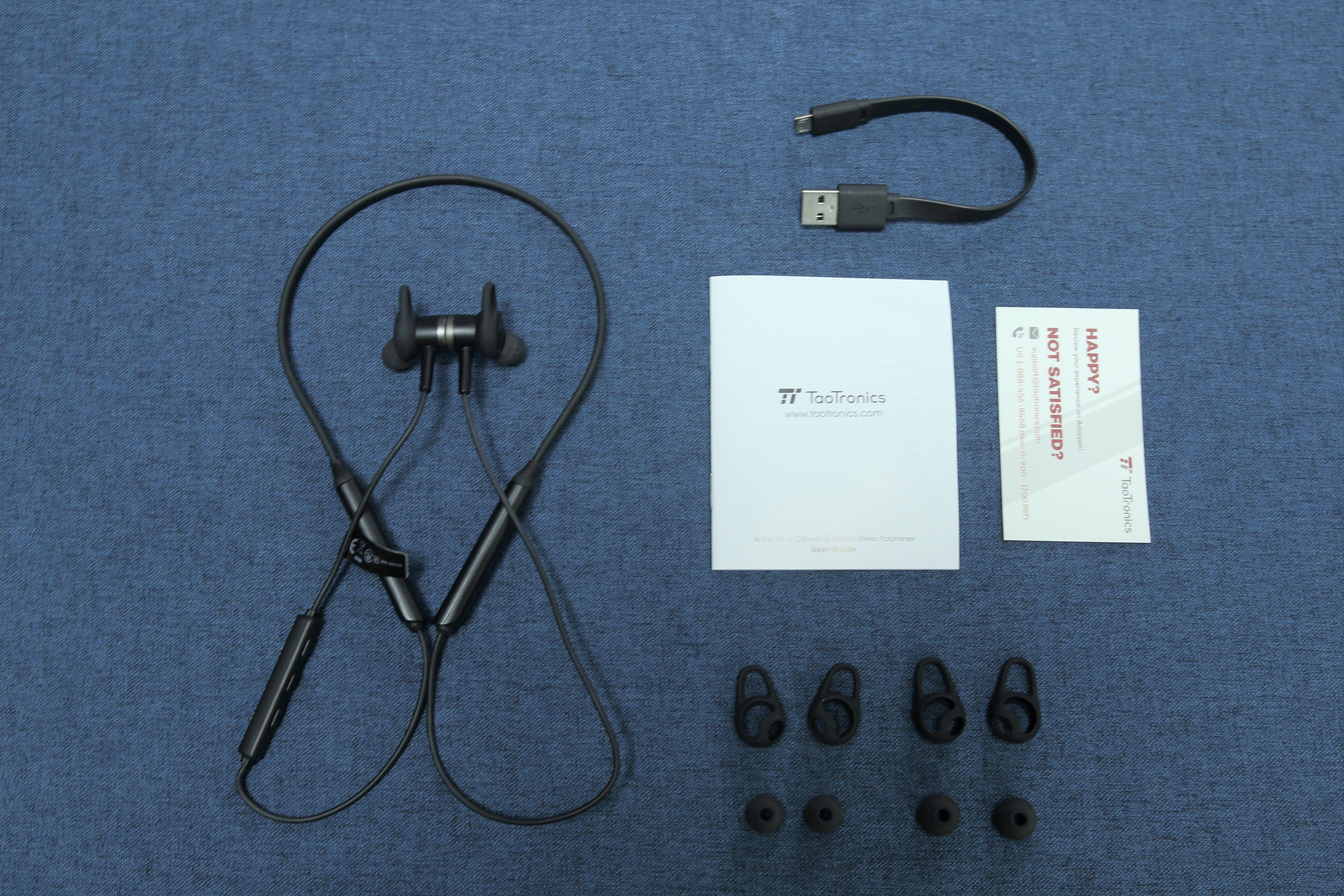 TaoTronics TT-BH042頸掛式降噪藍牙耳機 - 盒內配件