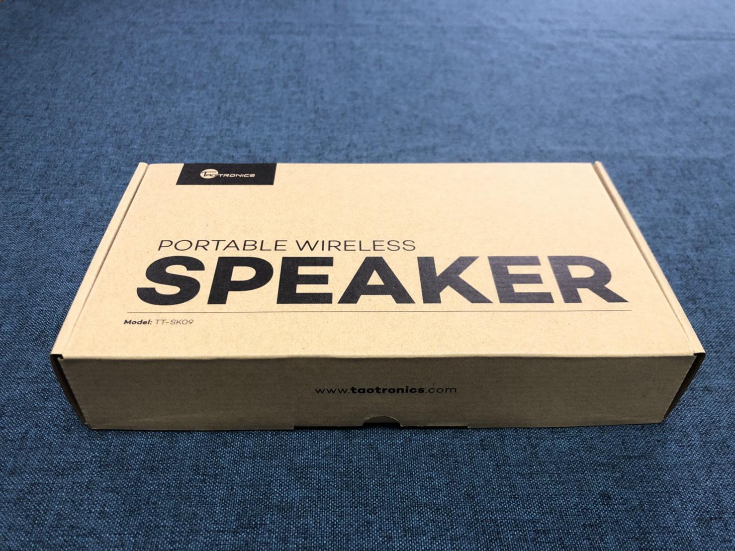 TaoTronics TT-SK09防水藍芽喇叭推薦 - 外盒